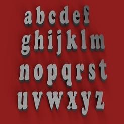 Descargar archivos STL COOPERBLACK Fuente minúscula 3D letras archivo STL, 3dlettersandmore