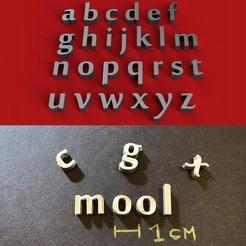 foto.jpg Download STL file MOOL Font lowercase 3D letters STL file • Model to 3D print, 3dlettersandmore