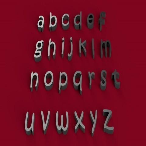 STL file KRISTEN font lowercase 3D letters STL file, 3dlettersandmore