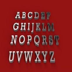 Download 3D printer model ROCKWELL font uppercase STL file 3D, 3dlettersandmore