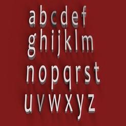 rendermin.jpg Télécharger fichier STL CANDARA Fontes minuscules 3D lettres minuscules fichier STL • Modèle pour impression 3D, 3dlettersandmore