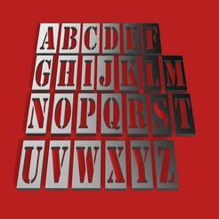 RENDER.jpg Télécharger fichier STL STENCIL 3D lettres STL fichier • Plan pour imprimante 3D, 3dlettersandmore