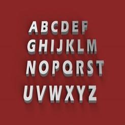 Download 3D printing files ERASBOLD font uppercase 3D letters STL file, 3dlettersandmore