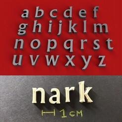foto.jpg Download STL file NARK Font lowercase 3D letters STL file • 3D printable template, 3dlettersandmore