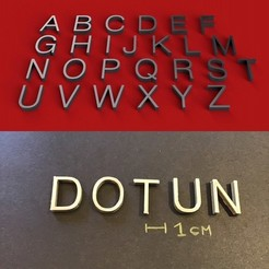 foto.jpg Télécharger fichier STL Police DOTUN lettres majuscules 3D fichier STL • Plan pour imprimante 3D, 3dlettersandmore
