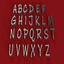 Télécharger fichier STL INK JOURNAL police de caractères majuscules lettres 3D fichier STL, 3dlettersandmore