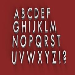 Download 3D printer files TWCEM font uppercase 3D letters STL file, 3dlettersandmore