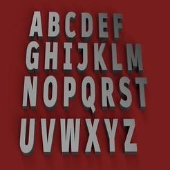 RENDER.jpg Télécharger fichier STL ARTIHEAVY police police lettres majuscules 3D fichier STL • Plan pour impression 3D, 3dlettersandmore
