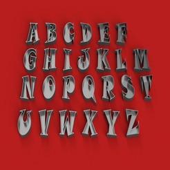 RENDER.jpg Télécharger fichier STL VIDE Police lettres 3D en majuscules Fichier STL Modèle d'impression 3D • Modèle pour imprimante 3D, 3dlettersandmore