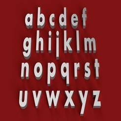 Descargar archivos 3D AHARONI Fuente minúscula 3D letras archivo STL, 3dlettersandmore