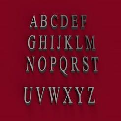 STL TIMES NEW ROMAN fuente mayúscula 3D letras archivo STL, 3dlettersandmore