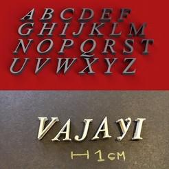 foto.JPG Download STL file VIJAYA font uppercase 3D letters STL file • 3D print model, 3dlettersandmore