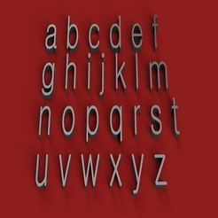 rendermin.jpg Télécharger fichier STL GULIM Font minuscules 3D lettres minuscules fichier STL • Objet pour impression 3D, 3dlettersandmore