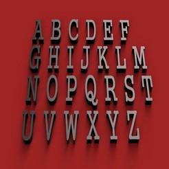 RENDER.jpg Télécharger fichier STL GUNGUSH police de caractères lettres majuscules 3D fichier STL • Objet pour impression 3D, 3dlettersandmore