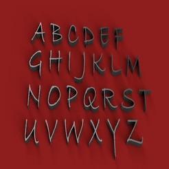 Download 3D printer designs BRADLEY font uppercase 3D letters STL file, 3dlettersandmore