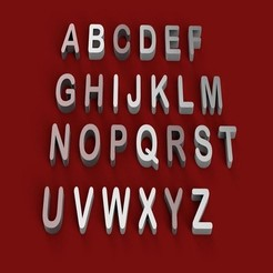 3D print files ARIAL ROUNDED font uppercase and lowercase 3D letters STL file , 3dlettersandmore