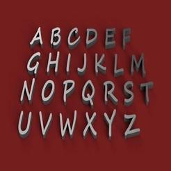 Download 3D printer model SEGOE SCRIPT font uppercase 3D letters STL file, 3dlettersandmore