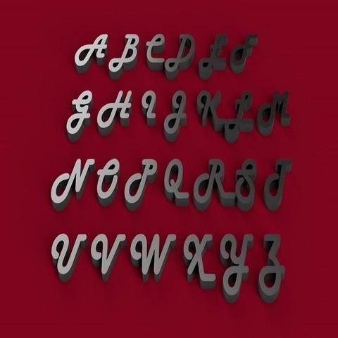STL file HARLOW font uppercase 3D letters STL file, 3dlettersandmore