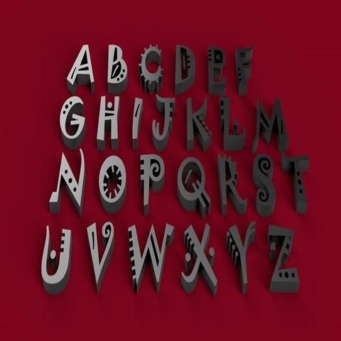 3D printing model JOKERMAN font uppercase 3D letters STL file, 3dlettersandmore