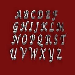 Impresiones 3D LUCIDA CALLIGRAPHY letra mayúscula letras 3D archivo STL, 3dlettersandmore