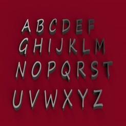 Télécharger modèle 3D SEGOE PRINT police de caractères majuscules lettres 3D fichier STL, 3dlettersandmore