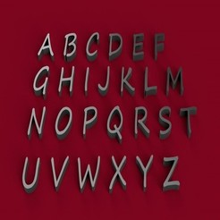 3D printer files SEGOE PRINT font uppercase 3D letters STL file, 3dlettersandmore