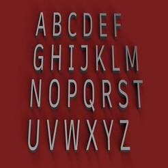 RENDER.jpg Télécharger fichier STL ARTIBOOK police de caractères majuscules lettres 3D fichier STL • Design imprimable en 3D, 3dlettersandmore