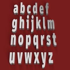 Descargar archivos STL ARTIHEAVY Fuente minúscula 3D letras archivo STL, 3dlettersandmore