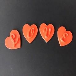 Imprimir en 3D CORAZÓN Día de San Valentín 3d letras STL archivo, 3dlettersandmore