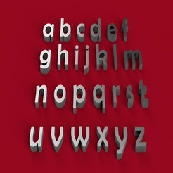 STL BERLIN SANS font lowercase 3D letters STL file, 3dlettersandmore