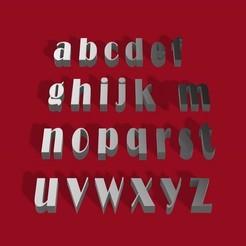 Descargar STL Fuente BROADWAY letras 3D minúsculas archivo STL, 3dlettersandmore