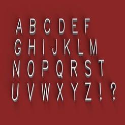 Download 3D printing files SIMPLEX font uppercase 3D letters STL file, 3dlettersandmore