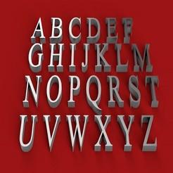 Télécharger objet 3D ISKOOLA police de caractères 3D lettres majuscules fichier STL, 3dlettersandmore