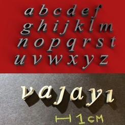 foto.jpg Download STL file VIJAYA Font lowercase 3D letters STL file • 3D print design, 3dlettersandmore