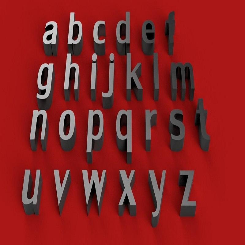 rendermin.jpg Télécharger fichier STL gratuit LILY Police lettres minuscules 3D fichier STL • Design pour imprimante 3D, 3dlettersandmore