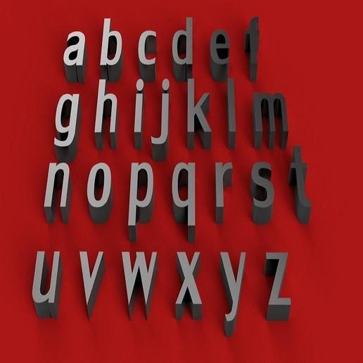 rendermin.jpg Download free STL file LILY Font lowercase 3D letters STL file • 3D printing design, 3dlettersandmore
