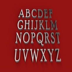 Download 3D model POOR RICHARD font uppercase STL file 3D, 3dlettersandmore
