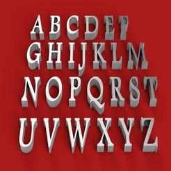 Download 3D model FOOTLIGHT font uppercase 3D letters STL file, 3dlettersandmore