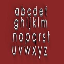 rendermin.jpg Télécharger fichier STL CENTURY GOT police de caractères minuscules 3D lettres minuscules fichier STL • Modèle à imprimer en 3D, 3dlettersandmore