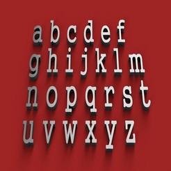 rendermin.jpg Télécharger fichier STL GUNGUSH Font Font minuscules lettres 3D fichier STL • Objet imprimable en 3D, 3dlettersandmore