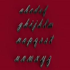 Descargar modelo 3D VLADIMIR font letras 3D minúsculas archivo STL, 3dlettersandmore