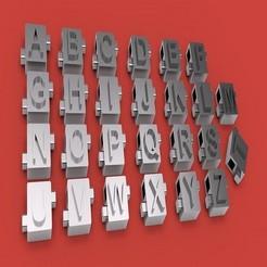 Descargar modelos 3D para imprimir CUBE 3D letras archivo STL, 3dlettersandmore