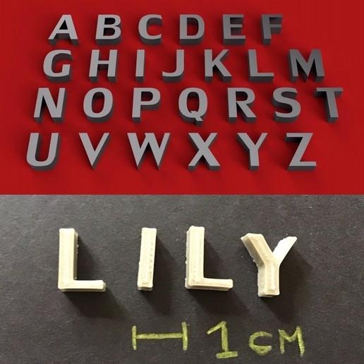 foto.jpg Download free STL file LILY font uppercase 3D letters STL file • 3D printing model, 3dlettersandmore