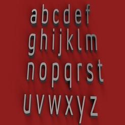 Descargar STL CONVECCIÓN Fuente minúscula 3D letras archivo STL, 3dlettersandmore