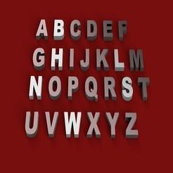 Diseños 3D ARIAL NEGRO letras 3D mayúsculas y minúsculas archivo STL, 3dlettersandmore
