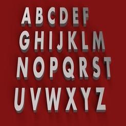 Impresiones 3D AHARONI letra mayúscula 3D letras STL archivo, 3dlettersandmore