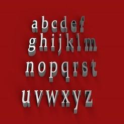 Impresiones 3D CONSTANTIA fuente minúscula 3D letras archivo STL, 3dlettersandmore