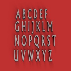 RENDER.jpg Télécharger fichier STL Police NARK lettres majuscules 3D fichier STL • Plan à imprimer en 3D, 3dlettersandmore