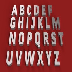 RENDER.jpg Télécharger fichier STL CONVECTION BOLD police de caractères gras lettres majuscules 3D fichier STL • Modèle pour imprimante 3D, 3dlettersandmore