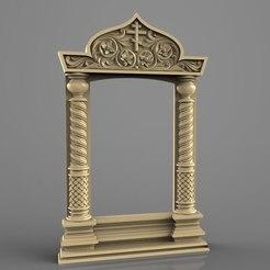 Descargar modelos 3D gratis Enrutador de arte cnc con marco religioso, Terhrinai